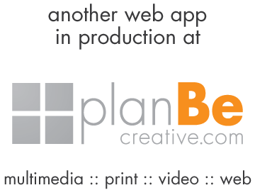 plan Be creative - multimedia, print video and web